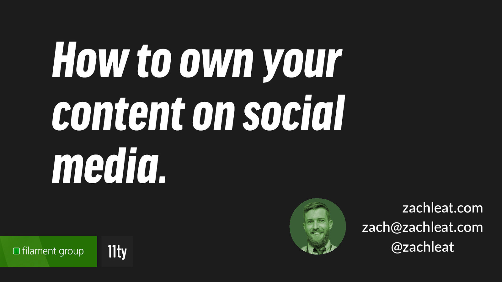 Own Your content on Social Media with the Indie Web