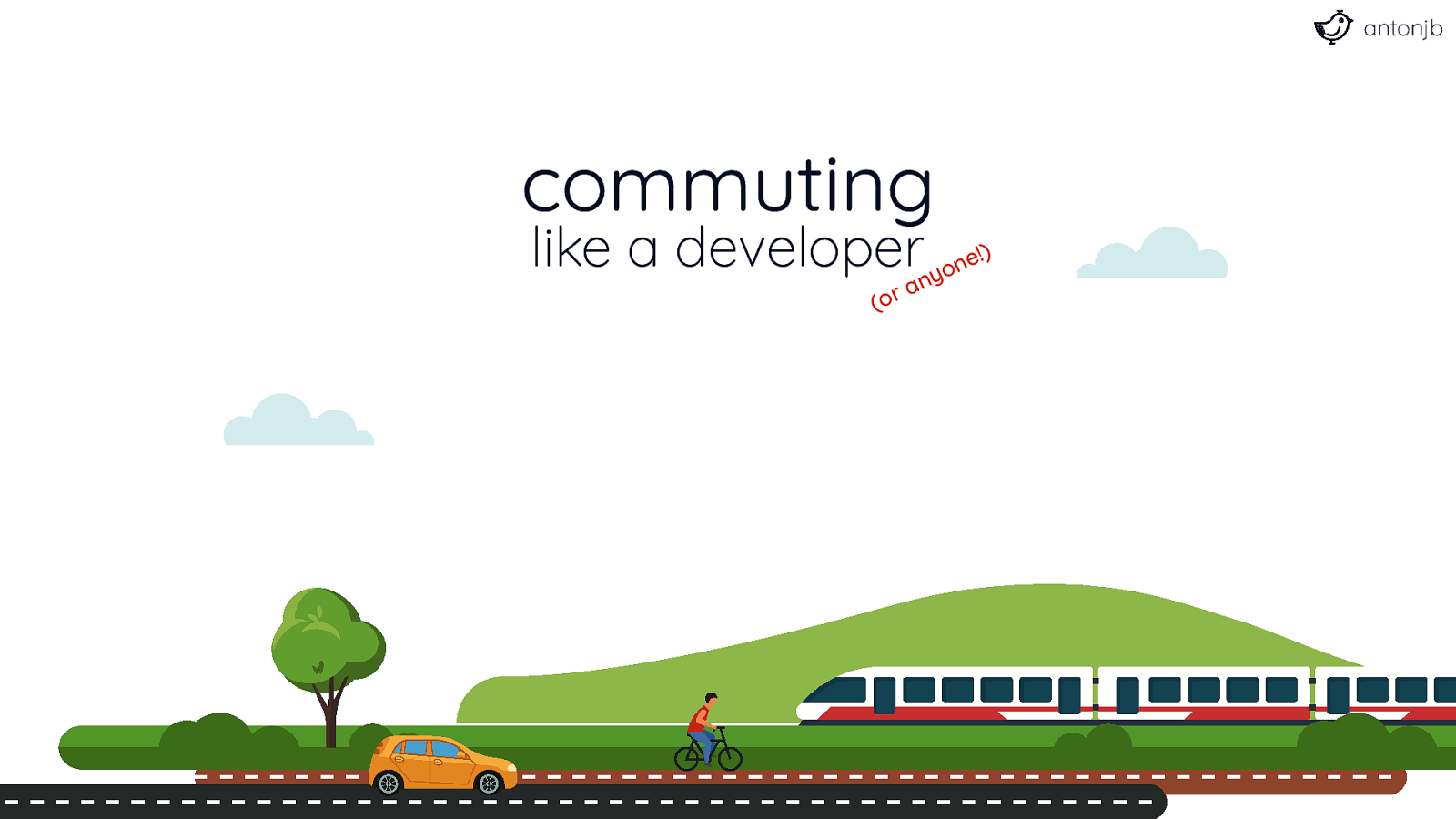 Commuting like a developer
