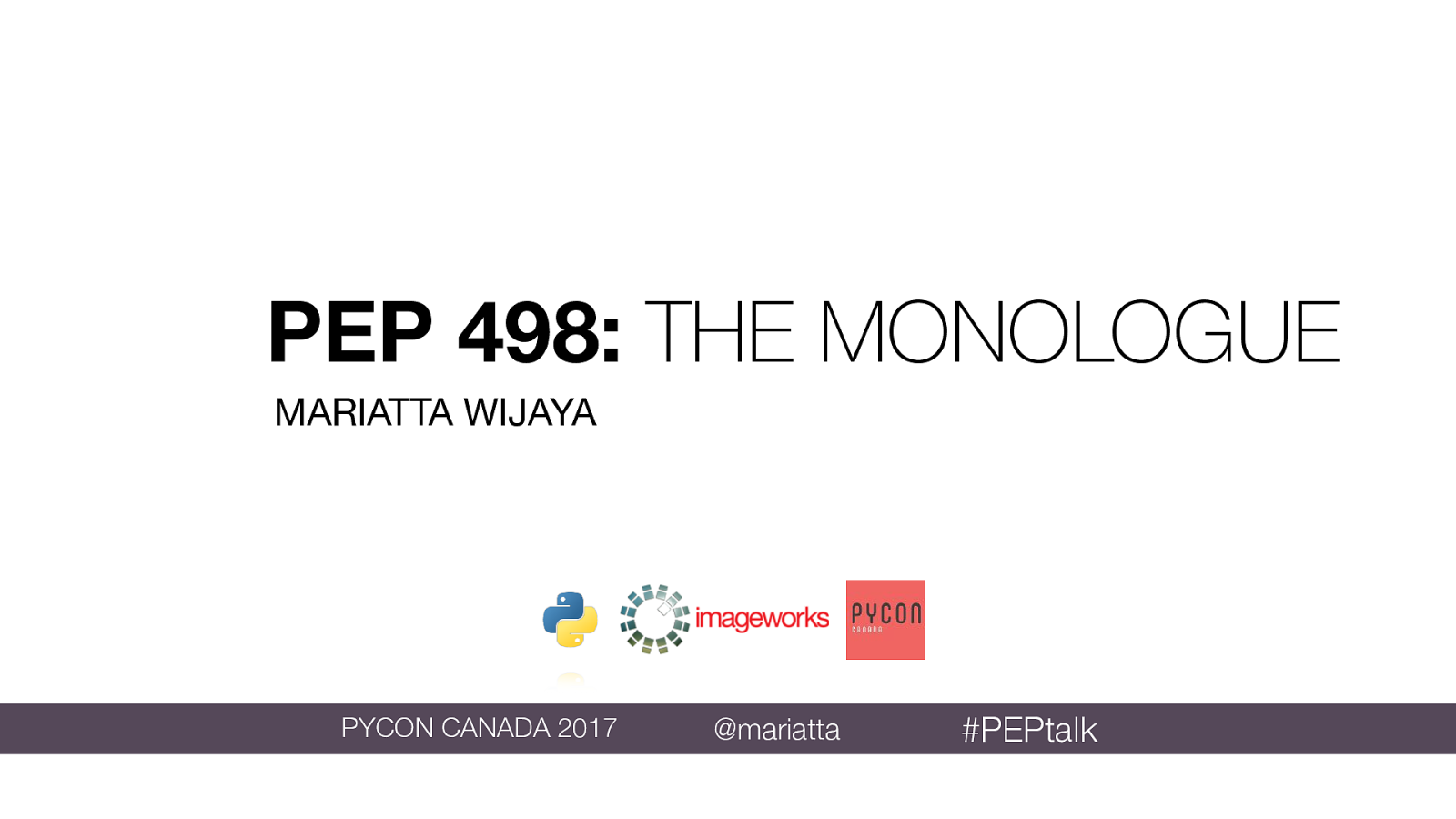PEP 498: The Monologue