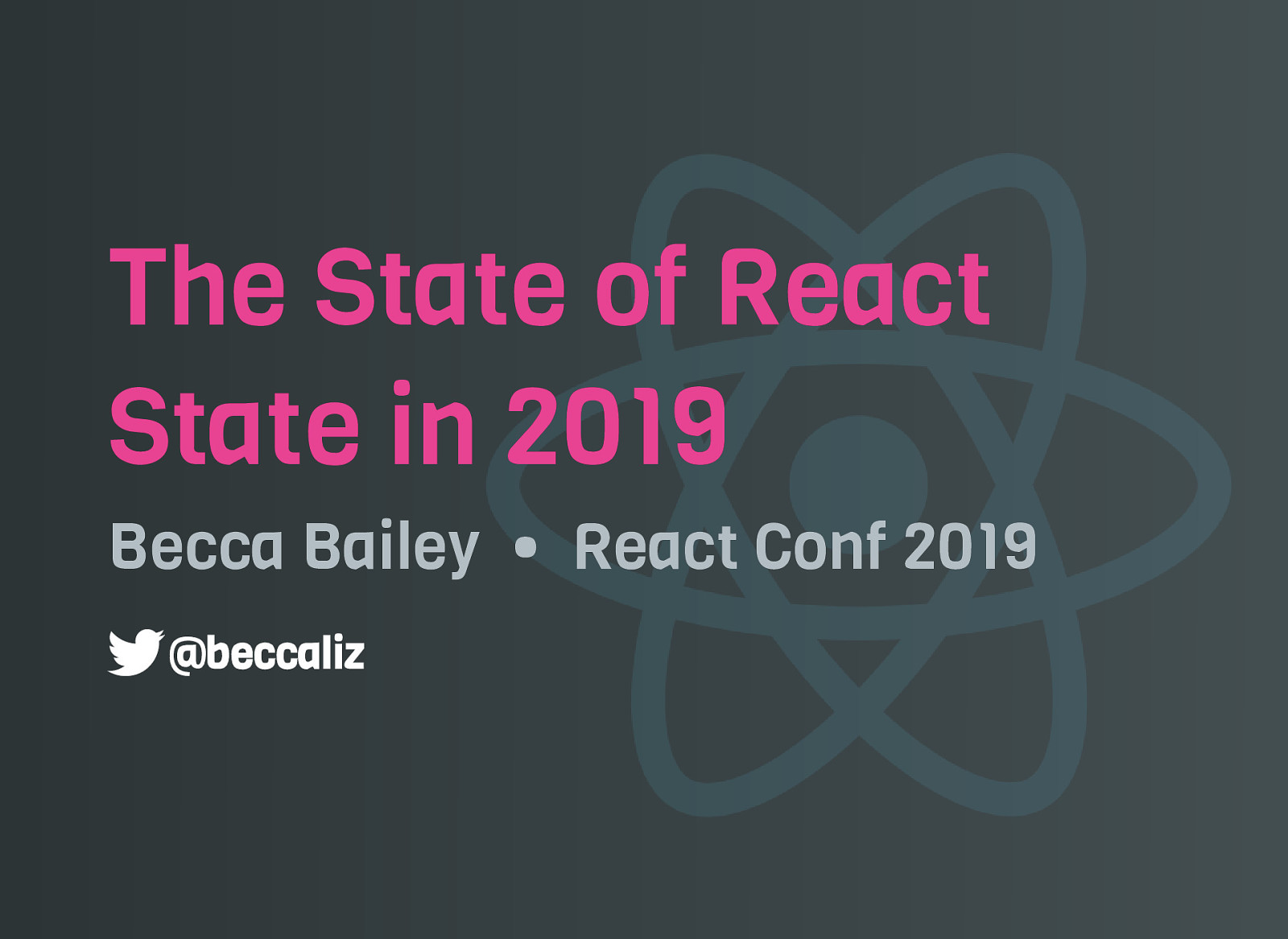 The State of React State in 2019
