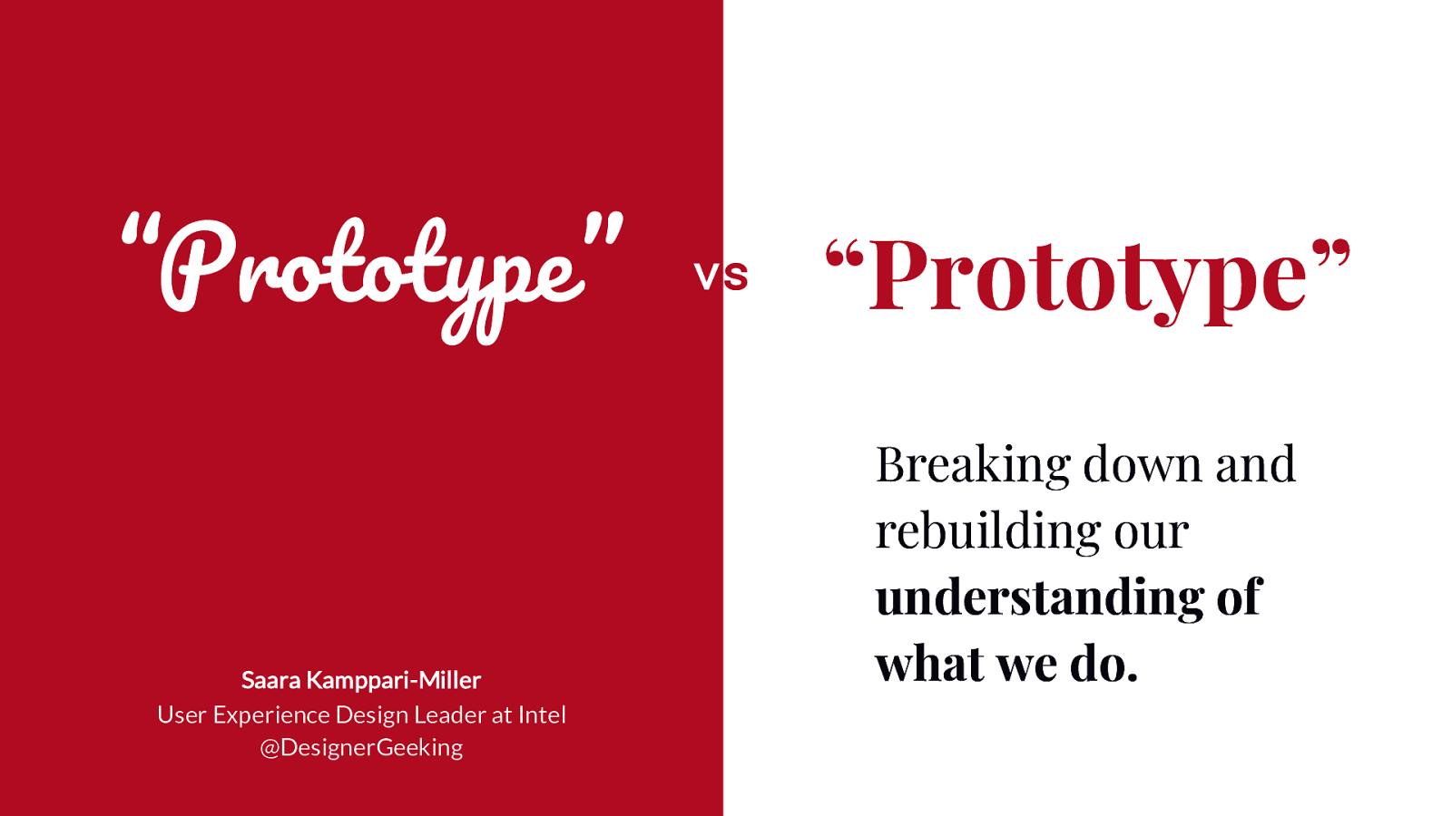 """""""Prototype"""" vs """"Prototype"""""""