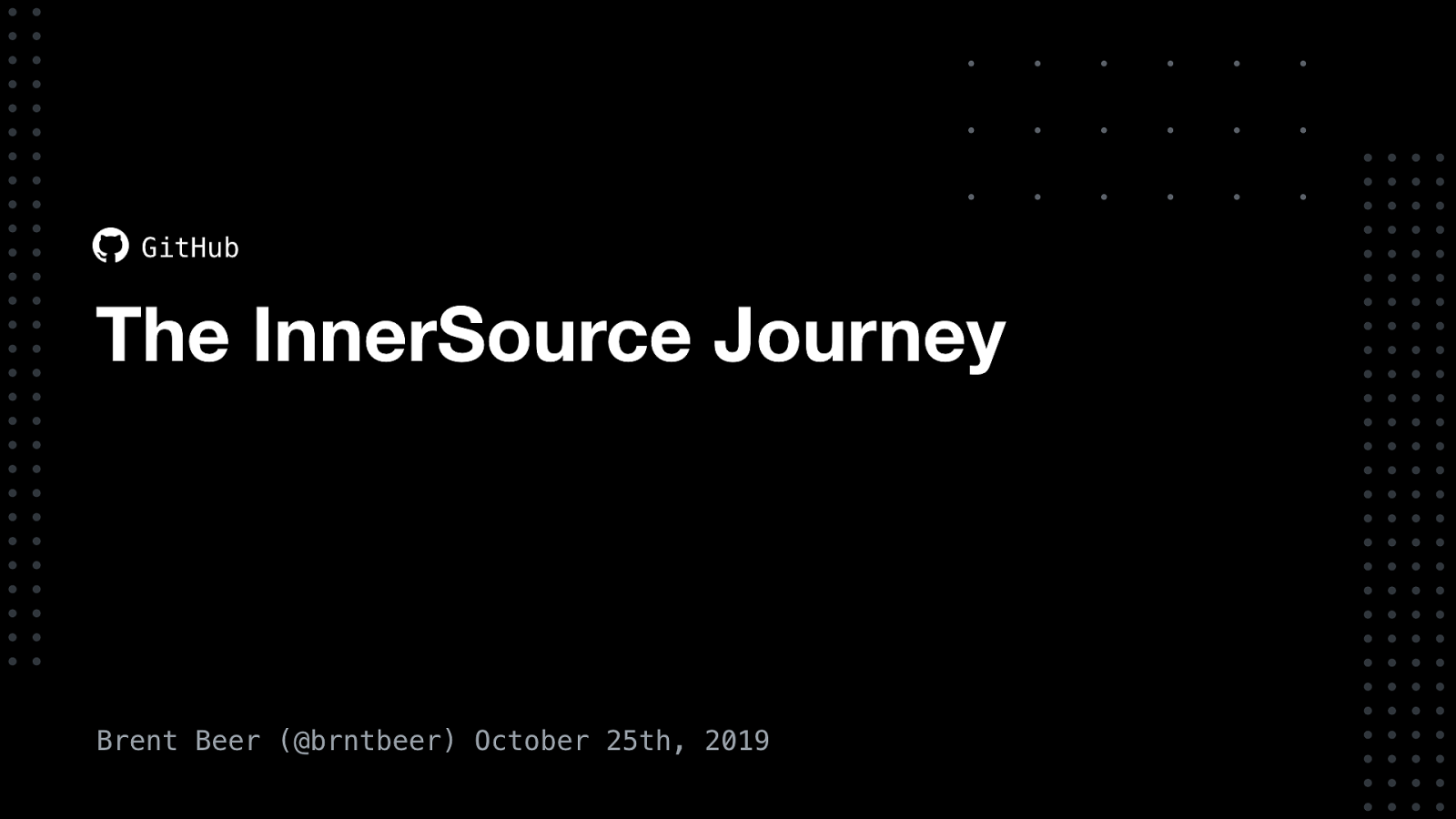 The InnerSource Journey