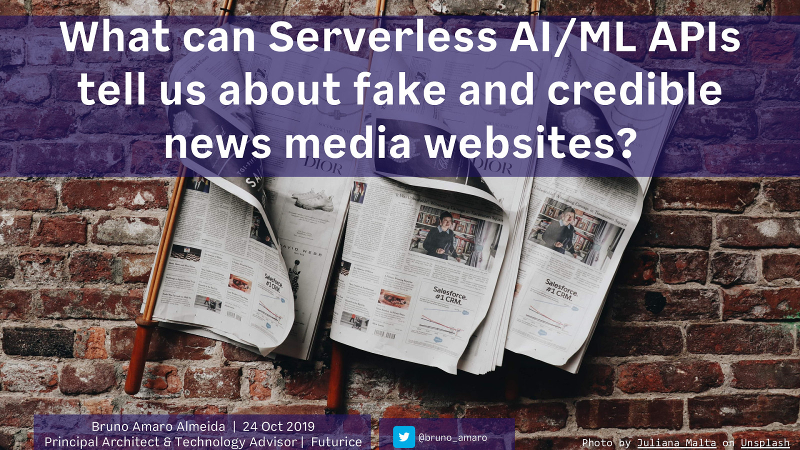 What can Serverless AI/ML APIs tell us about Fake and Credible News?