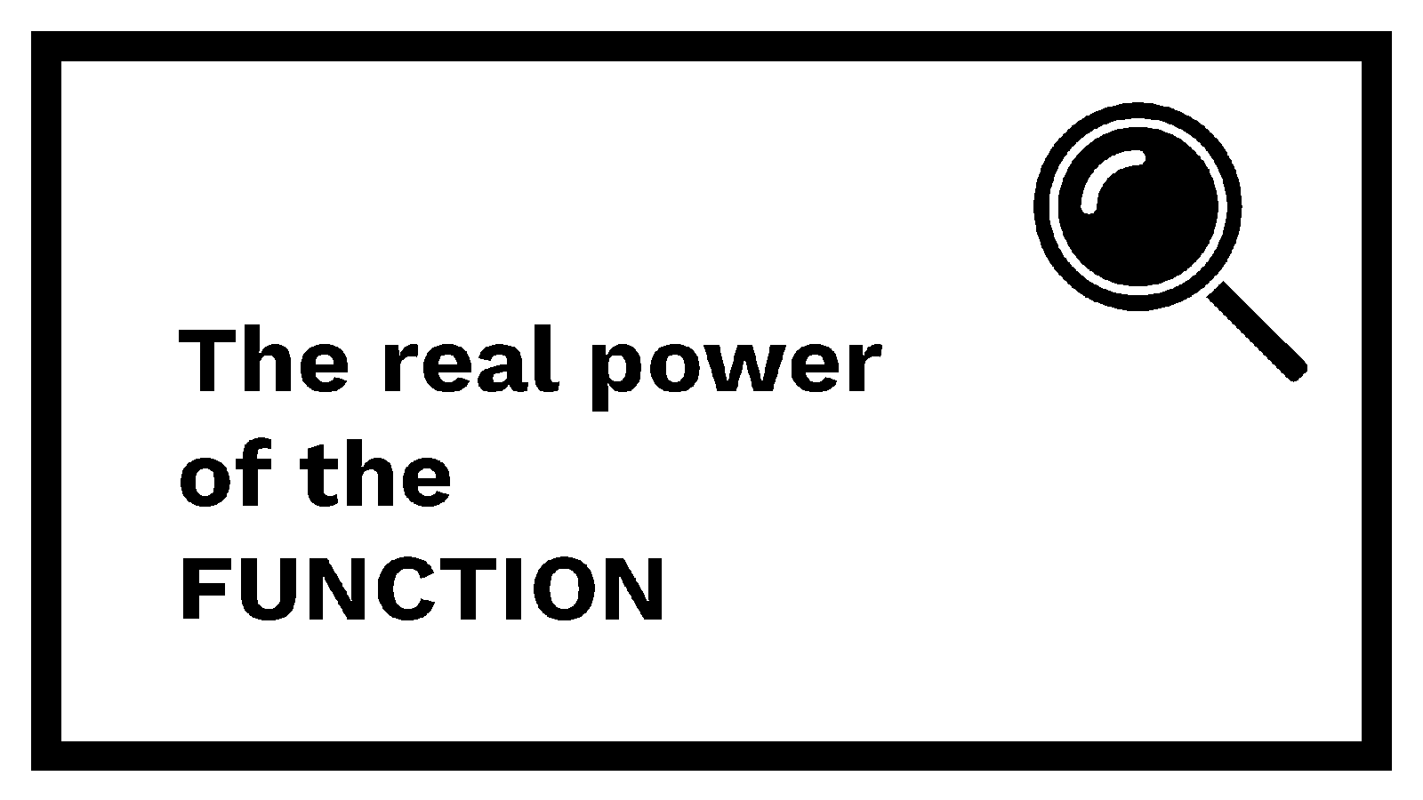 The real power of the function