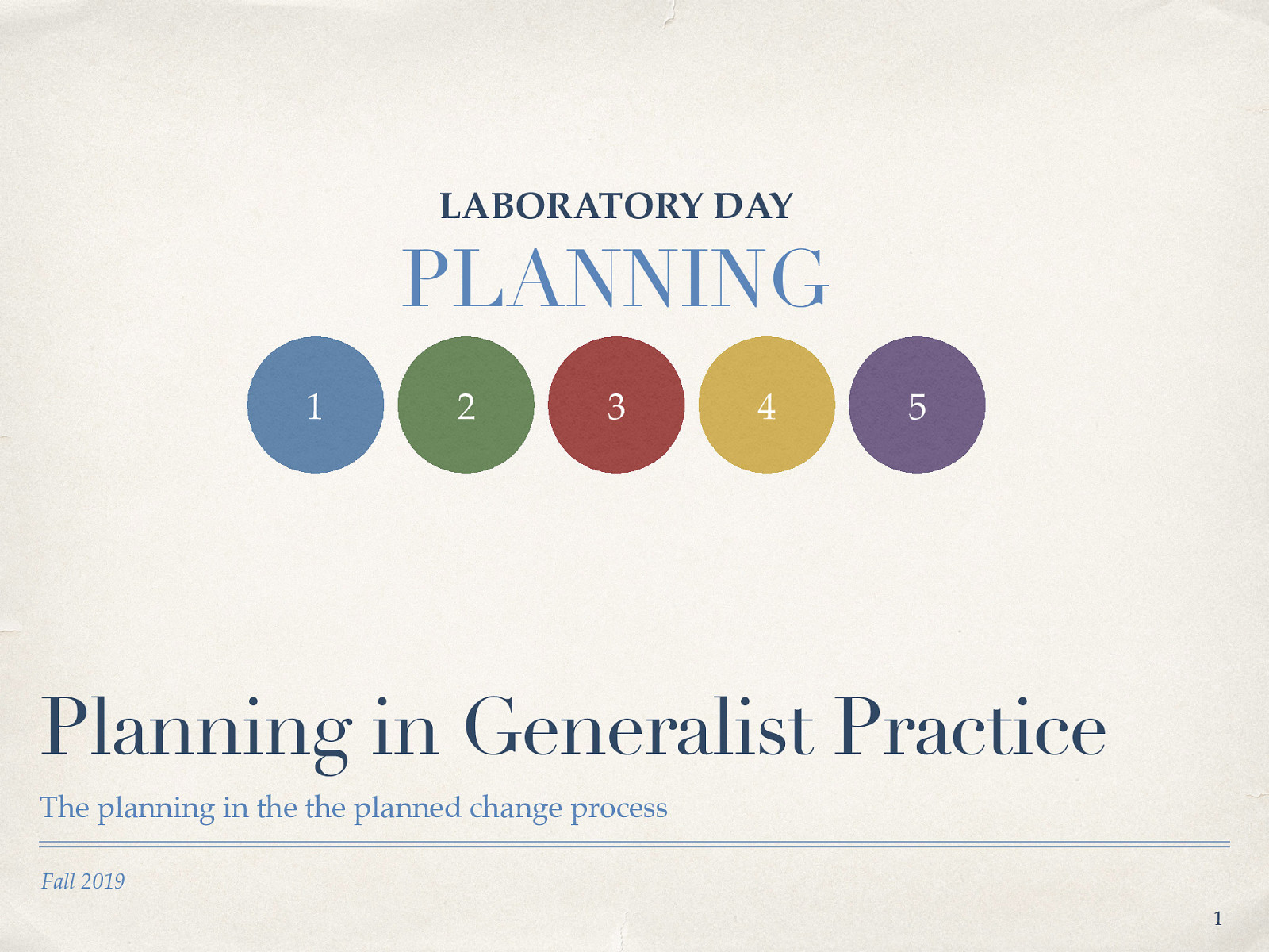 Week 11 - Lab Day - Planning in Generalist Practice