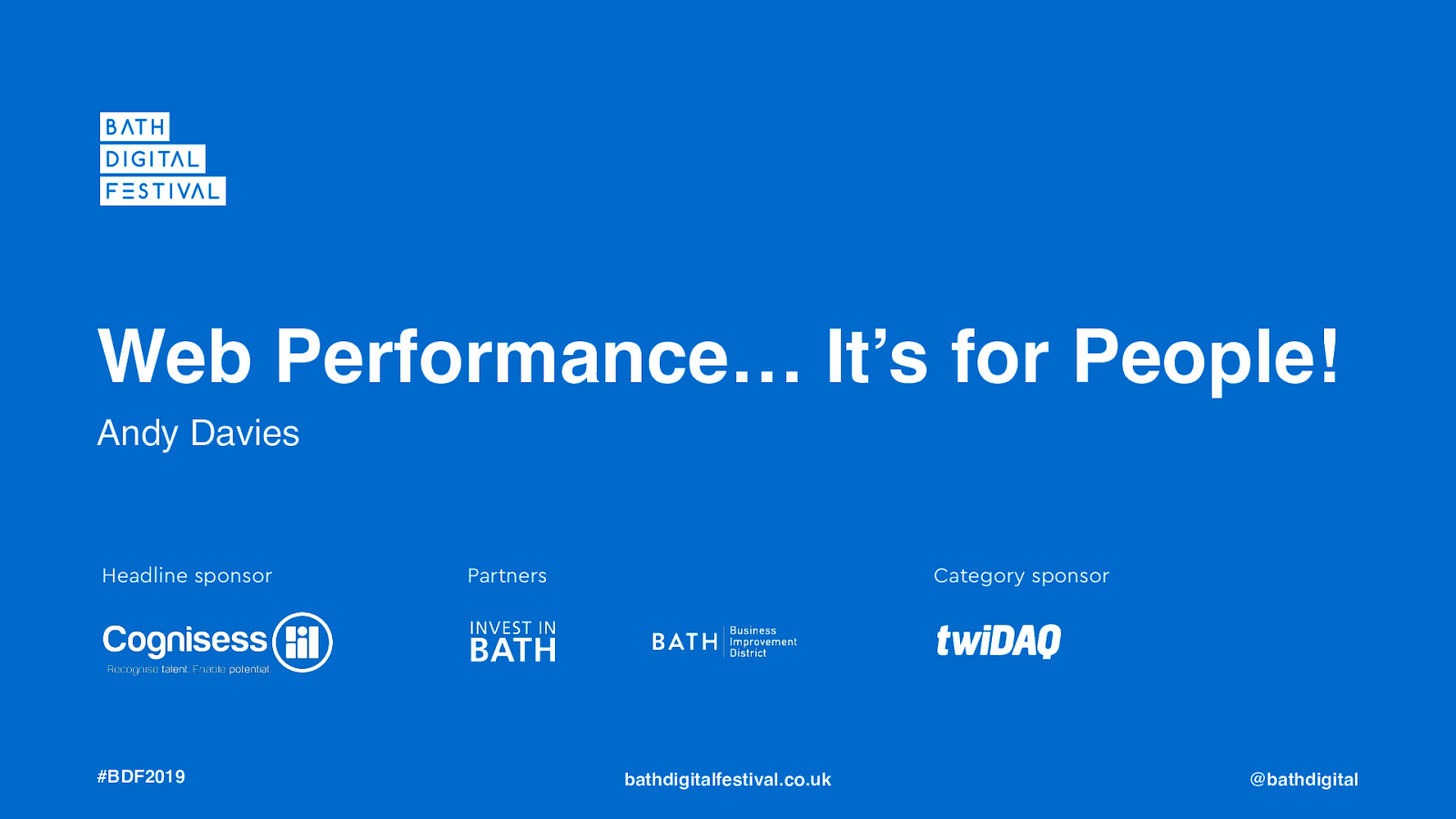 Web Performance… It's for People!