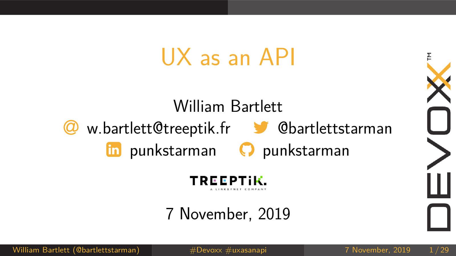 UX as an API