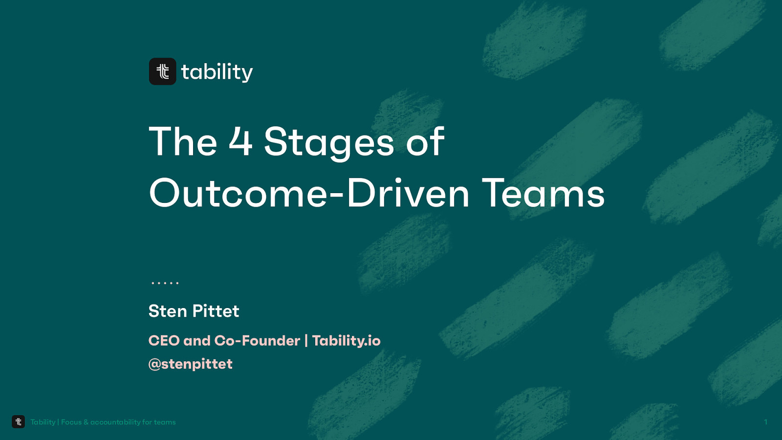 The 4 stages of outcome-driven teams