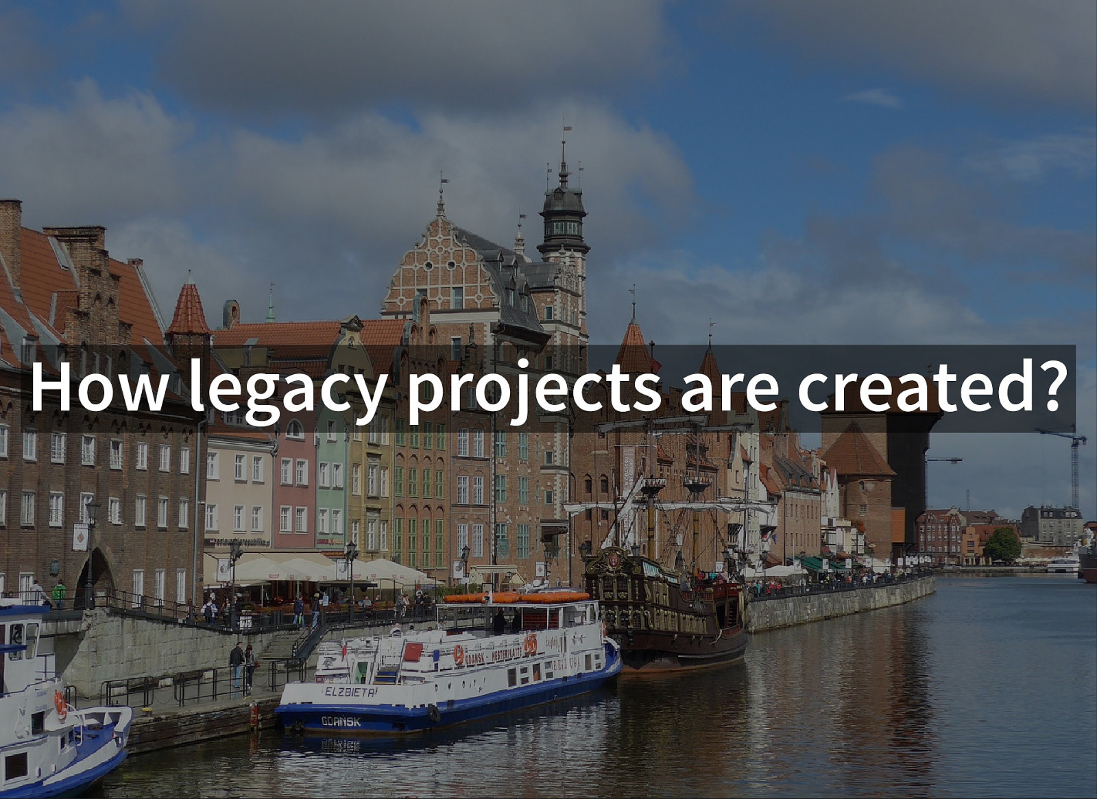 How legacy projects are created?