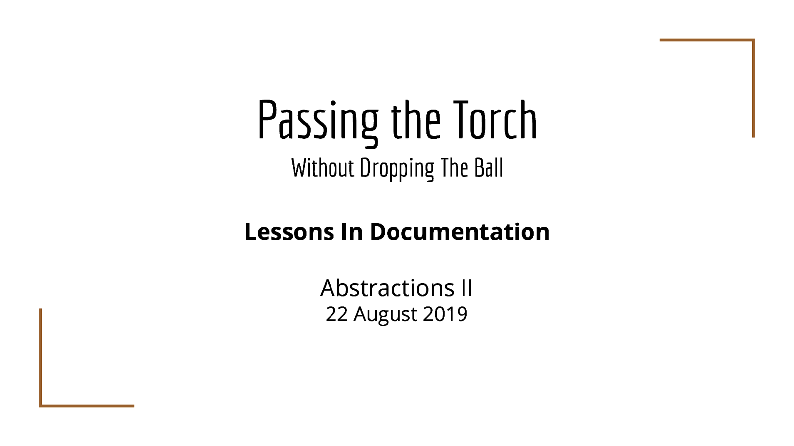 Passing the Torch Without Dropping The Ball: Lessons in Community Management