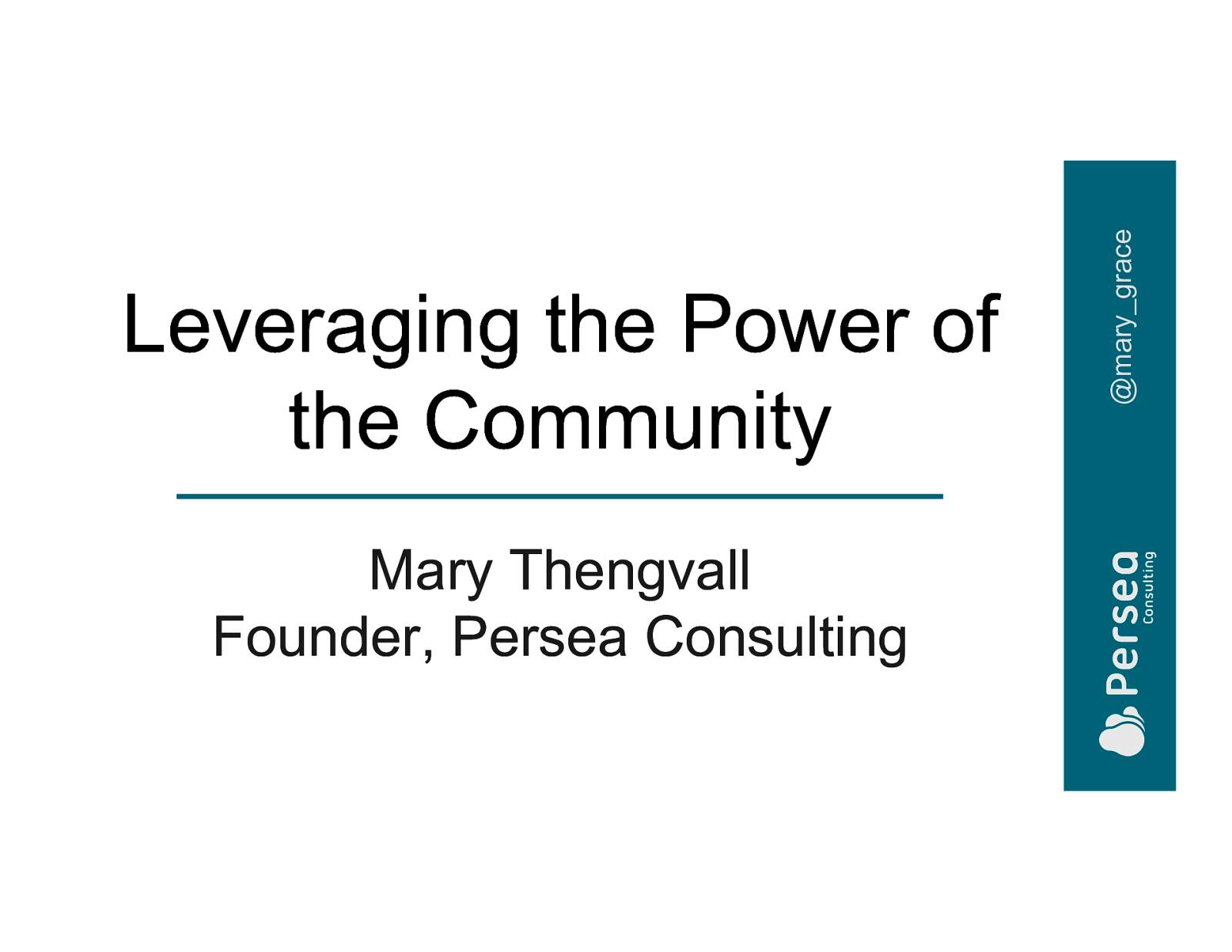 Leveraging the Power of Community