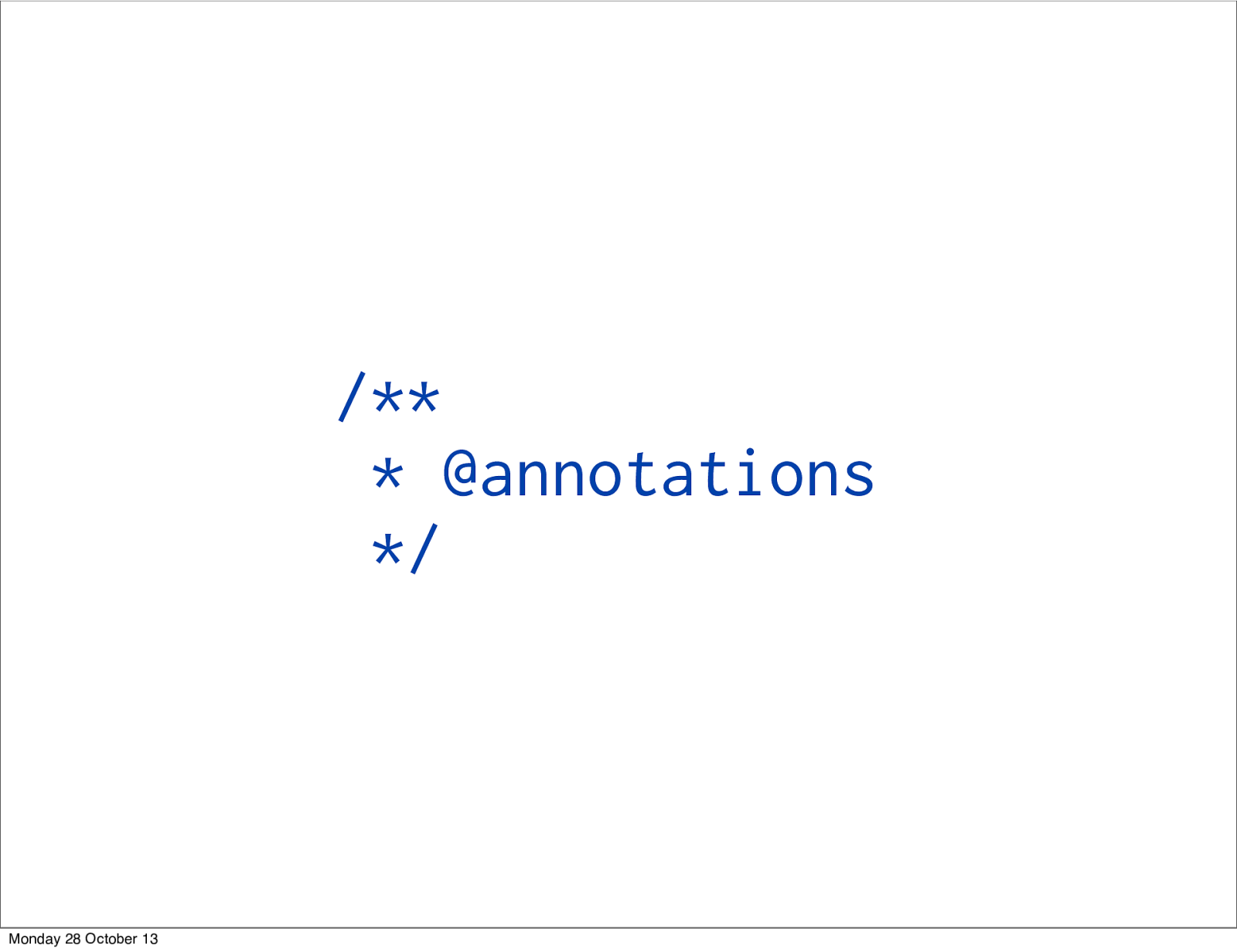 Annotations in PHP