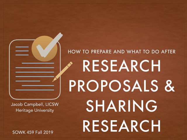 Week 13: Research Proposals & Sharing Research