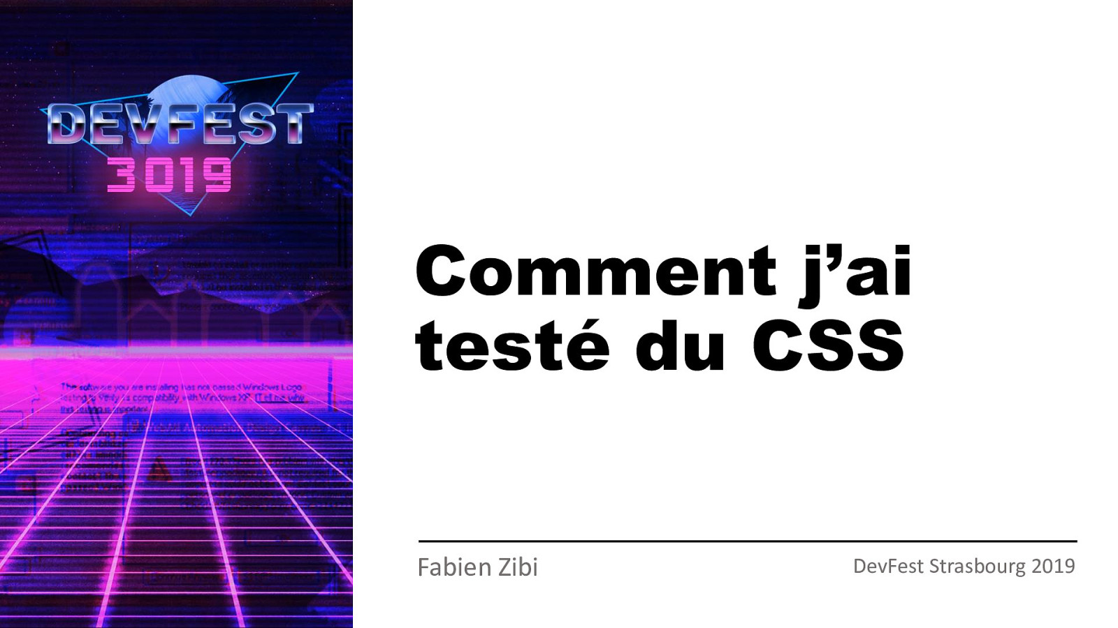 Comment j'ai testé du CSS