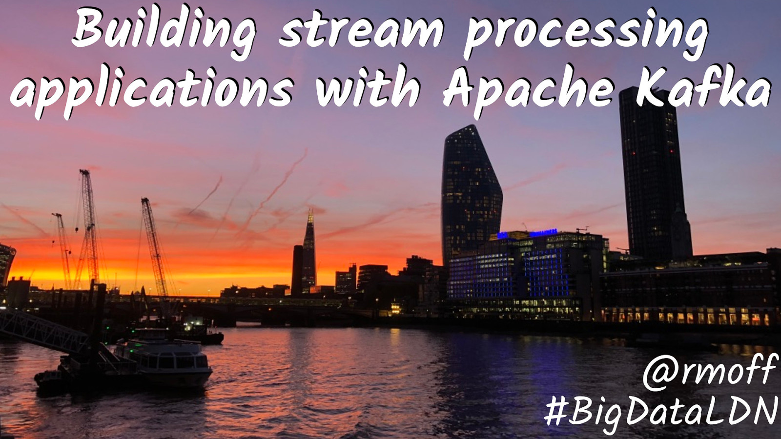 Building stream processing applications for Apache Kafka using KSQL