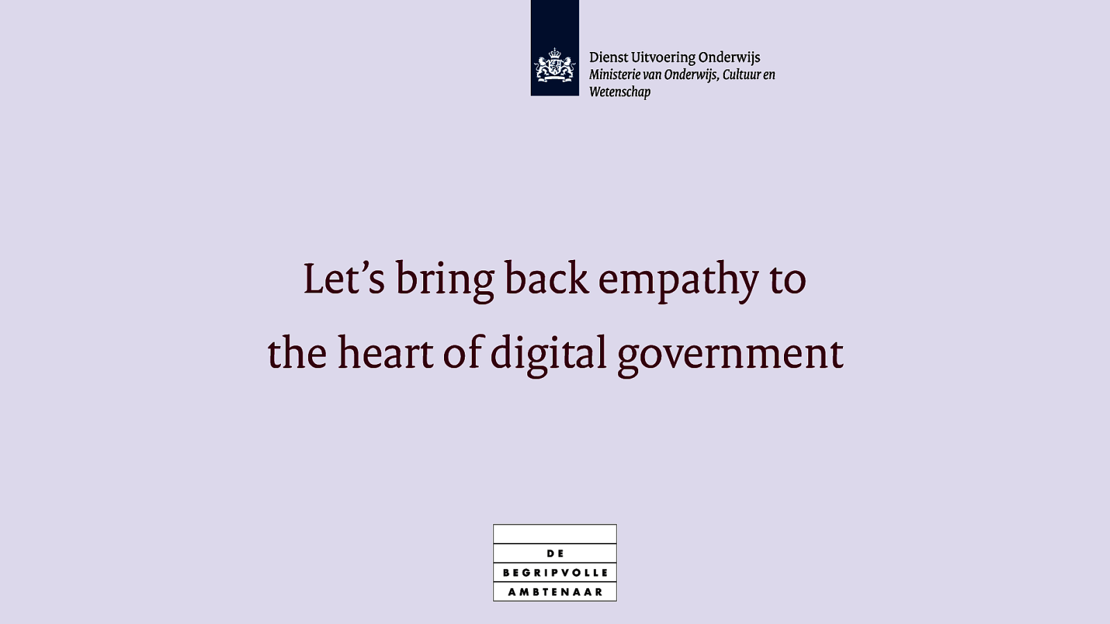 Let's bring back empathy to the heart of digital government.