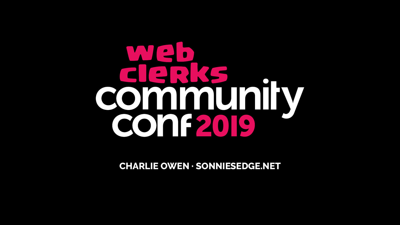 Web Clerks Communiy Conf 2019