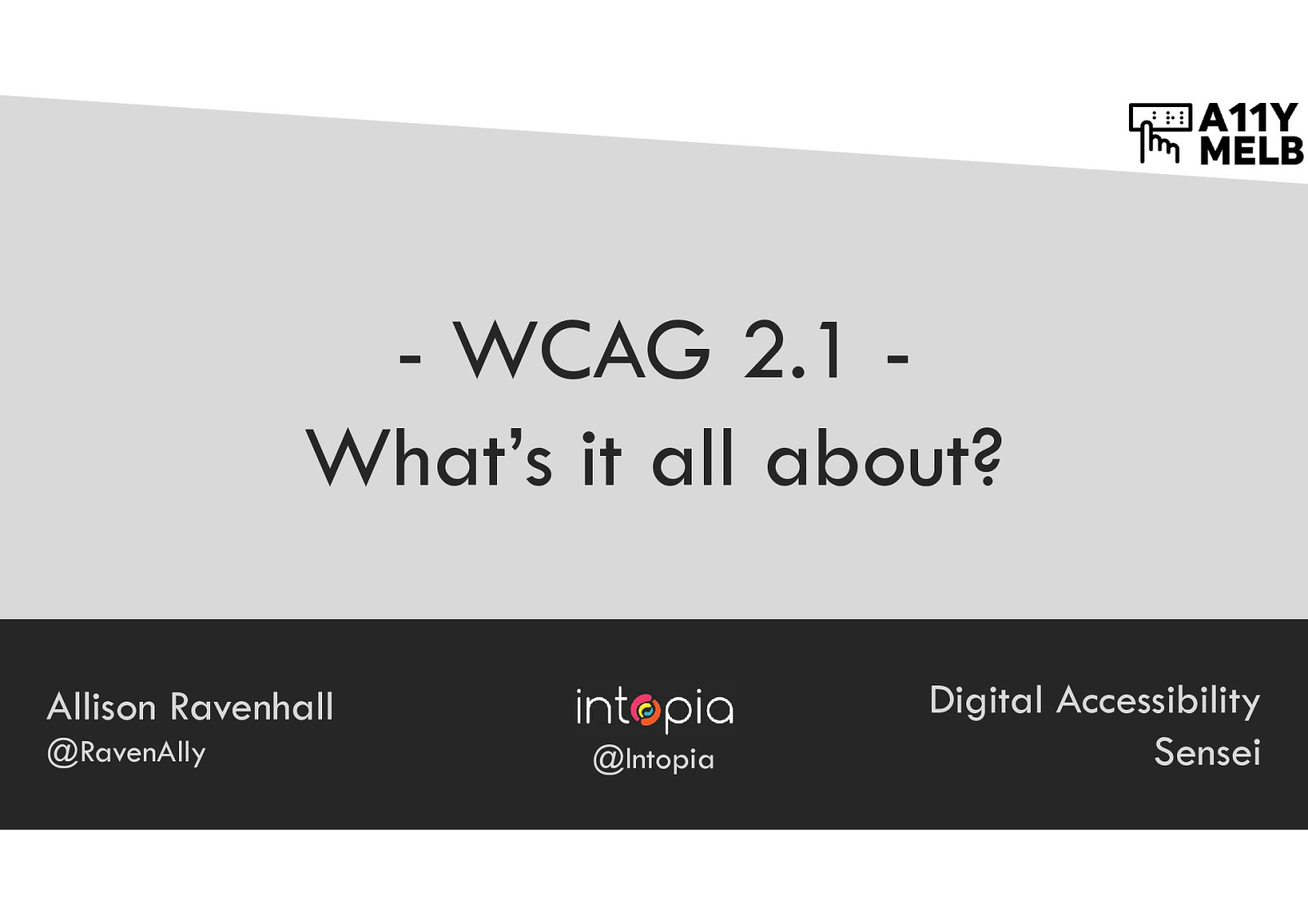 WCAG 2.1 - What's it all about?