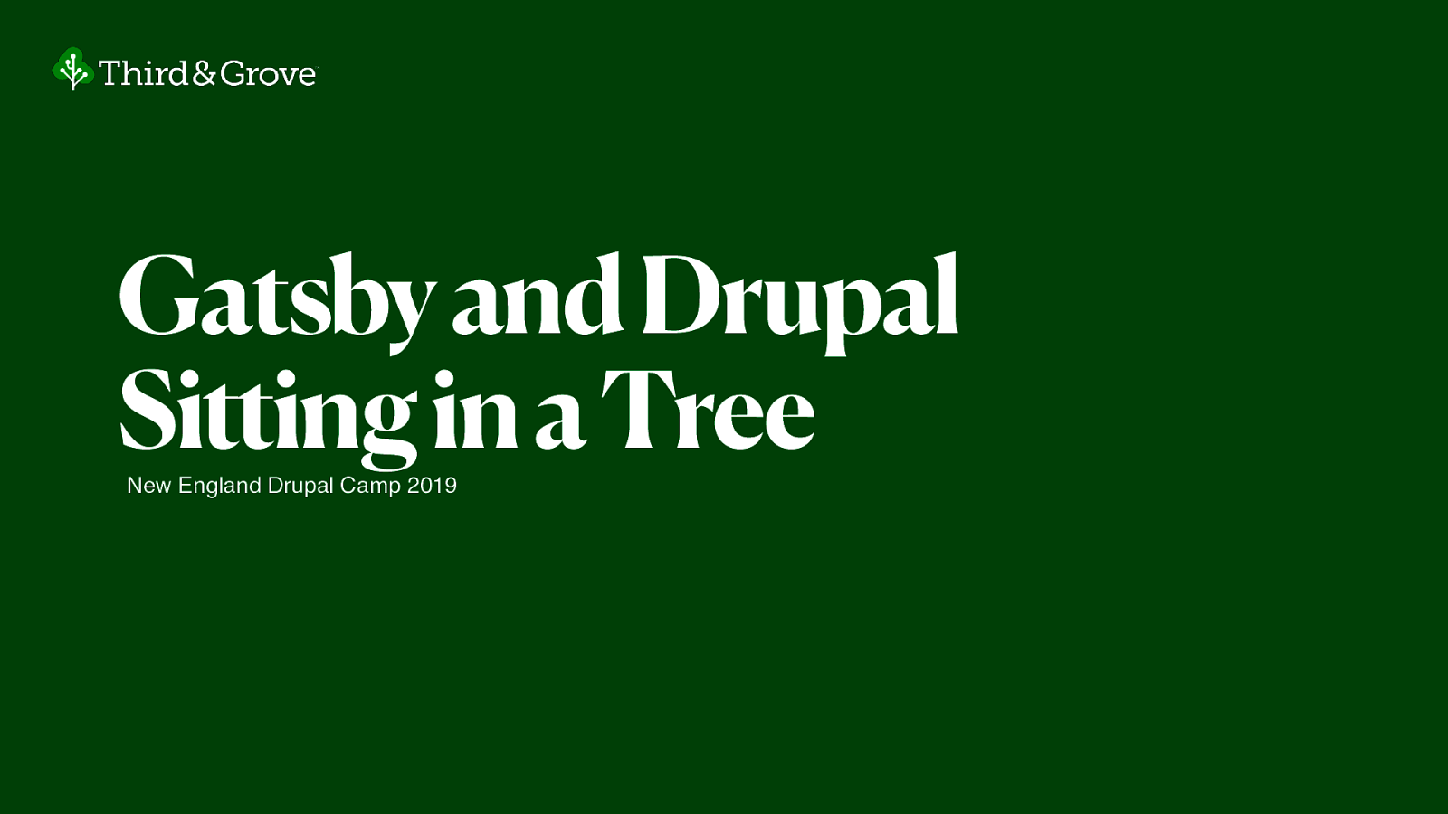 Gatsby & Drupal Sitting in a Tree