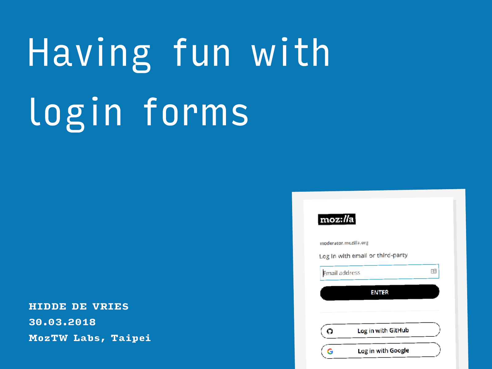 Having fun with login forms