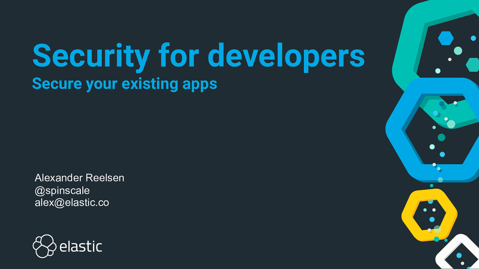 Security for developers - secure your existing apps