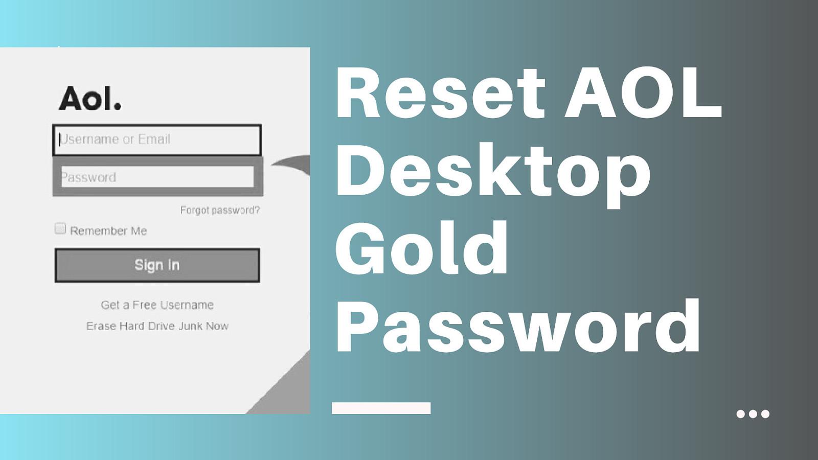 Recover AOL Desktop Gold Password | Troubleshoot