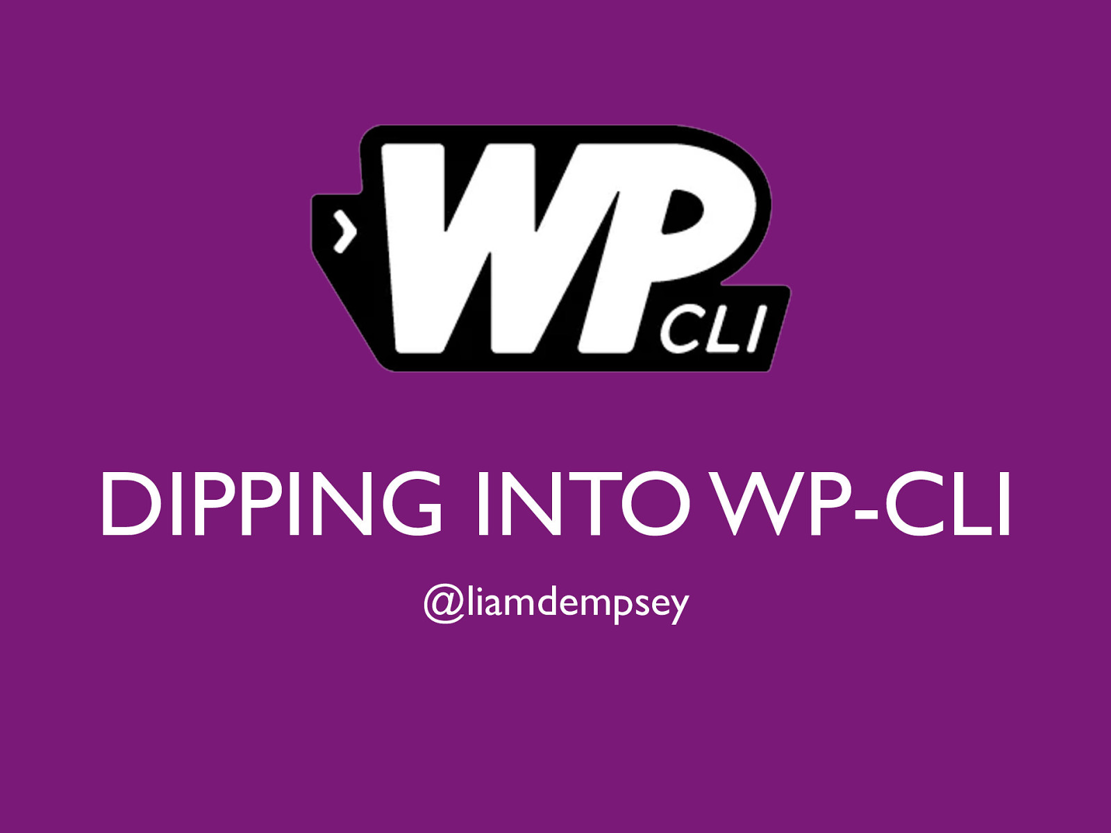 Dipping into wp-cli