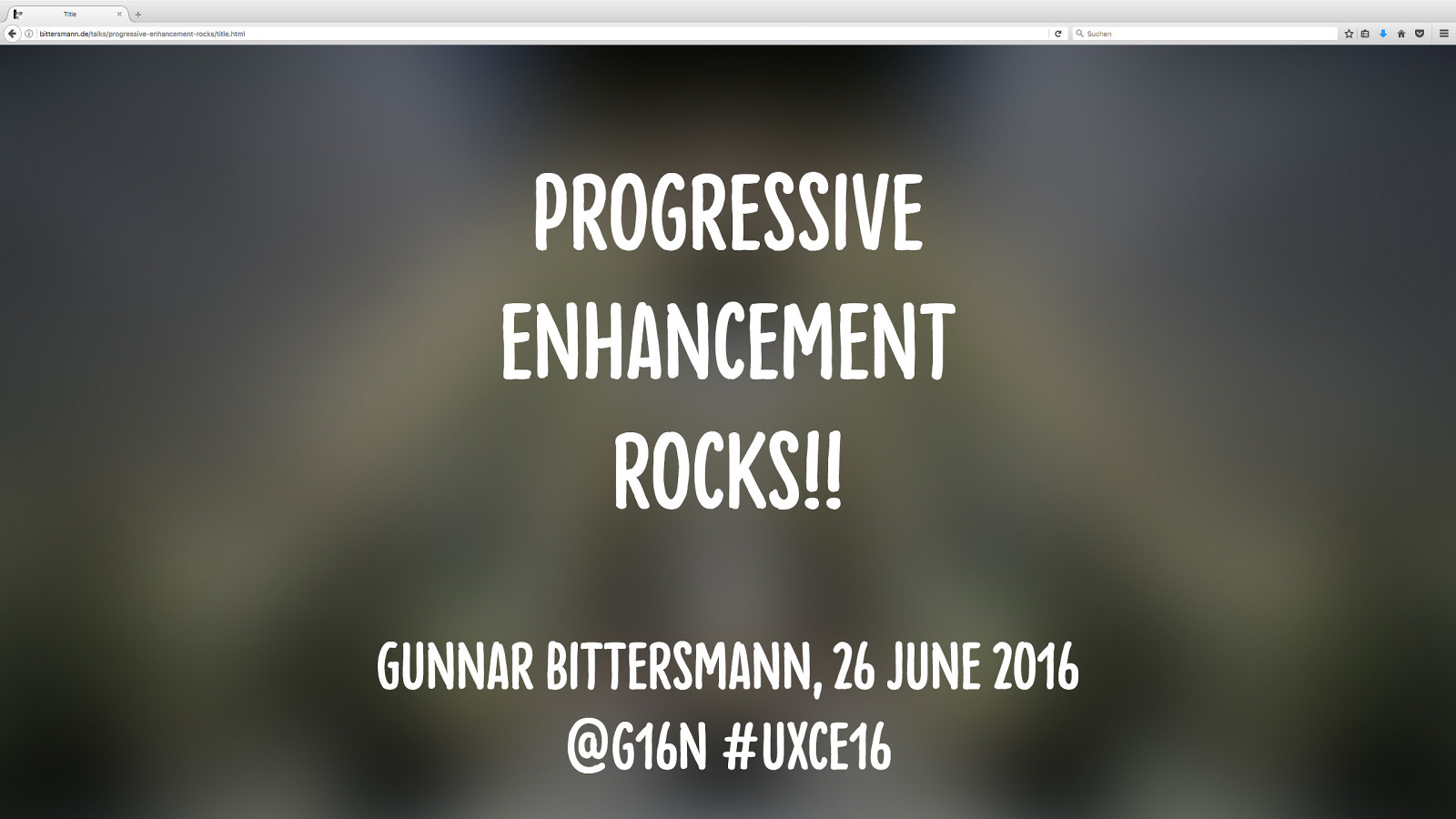 Progressive enhancement rocks!