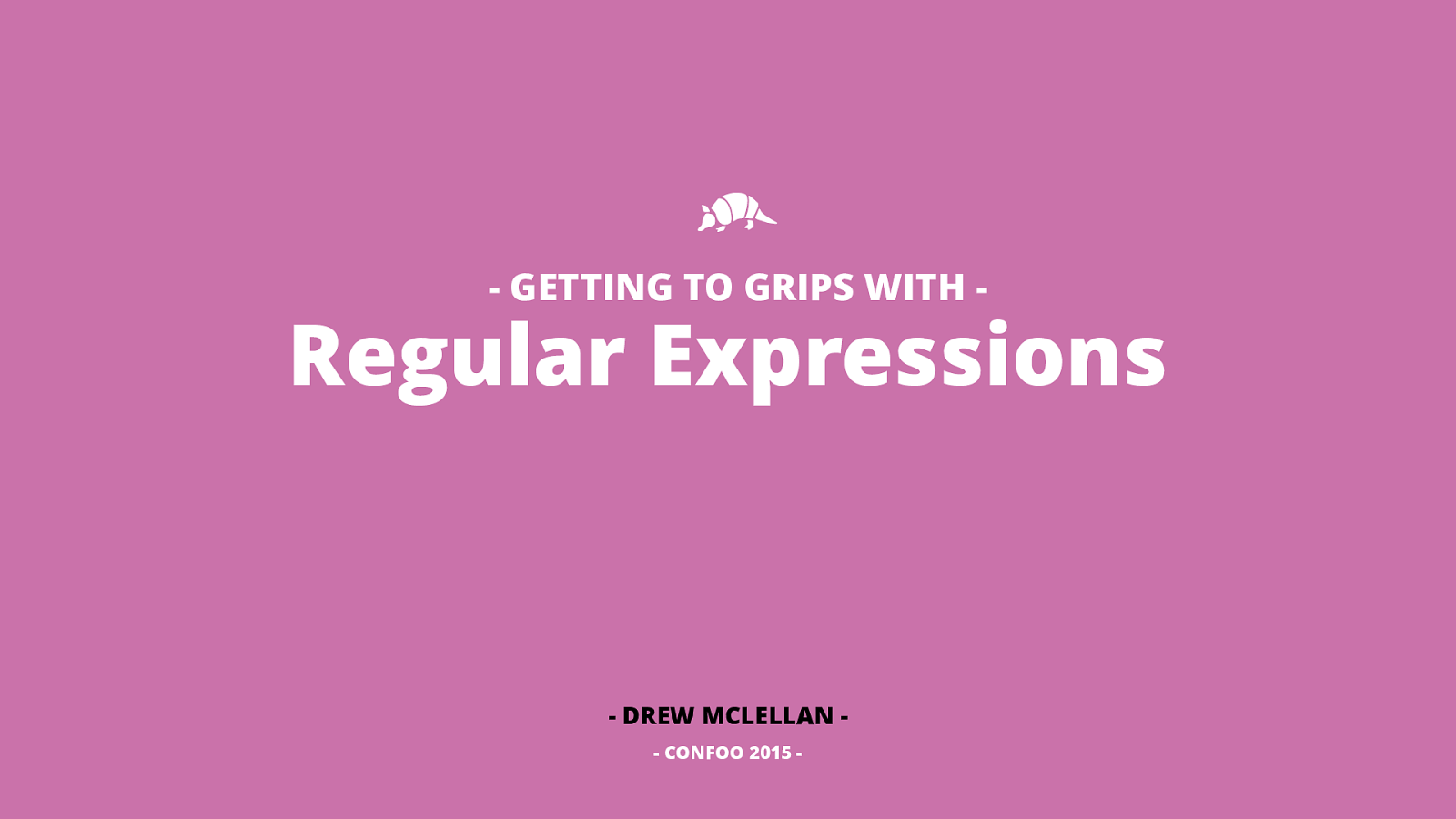Getting To Grips with Regular Expressions
