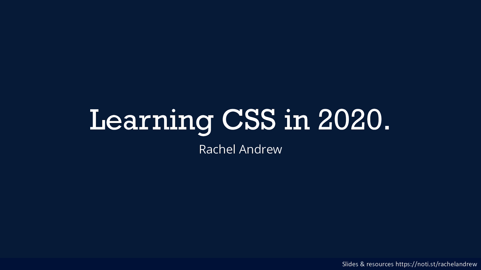 Learning CSS in 2020