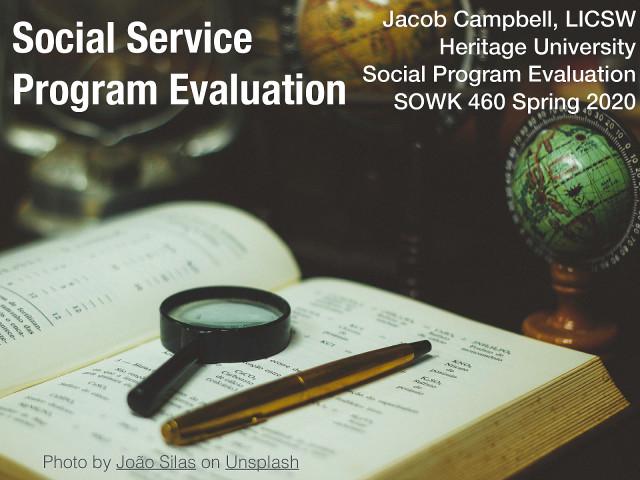Week 01 - Social Service Program Evaluation
