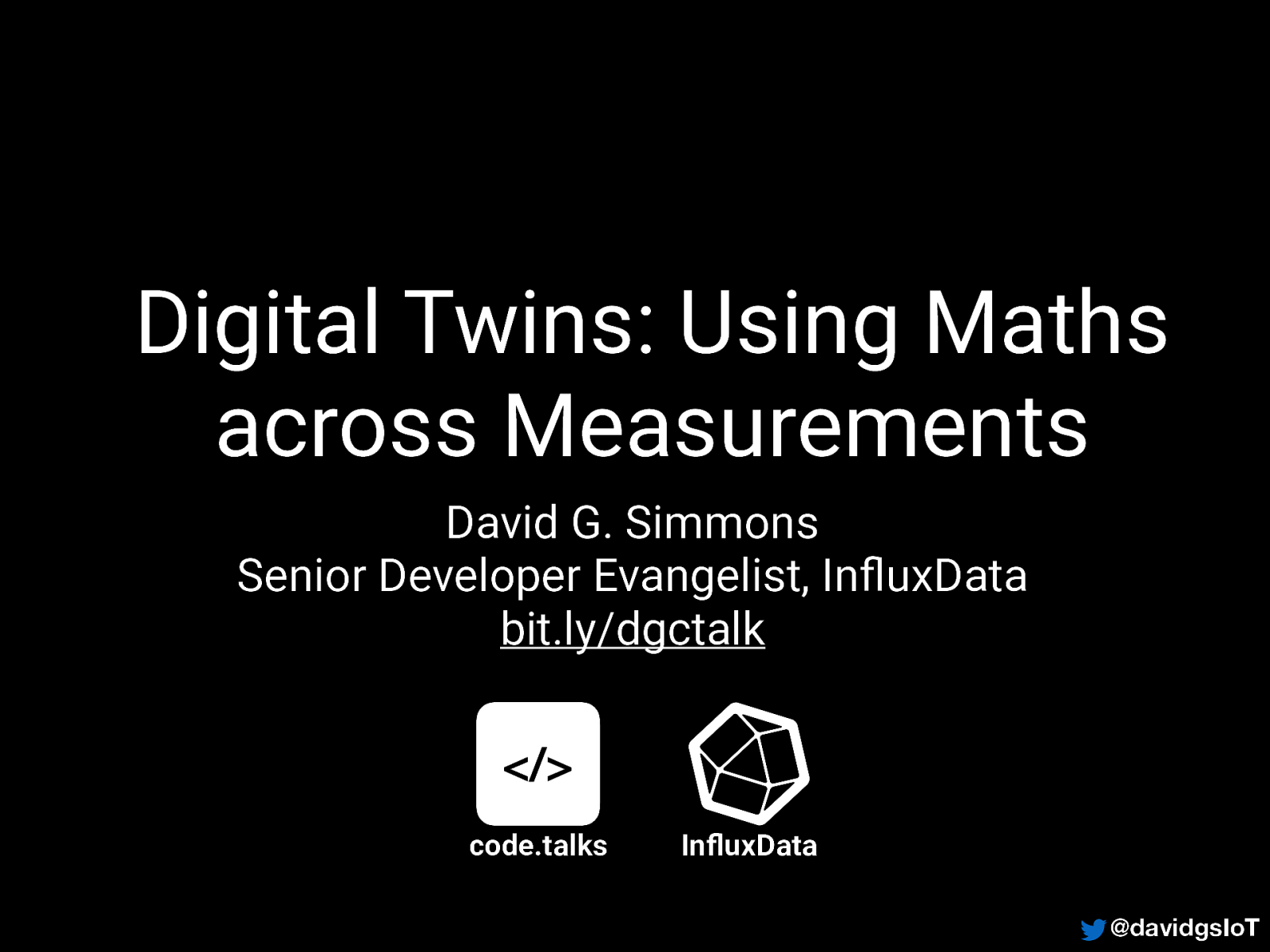 Digital Twins: Using Maths across Measurements