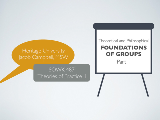 Week 02 - Theoretical and Philosophical Foundations to Groups part I