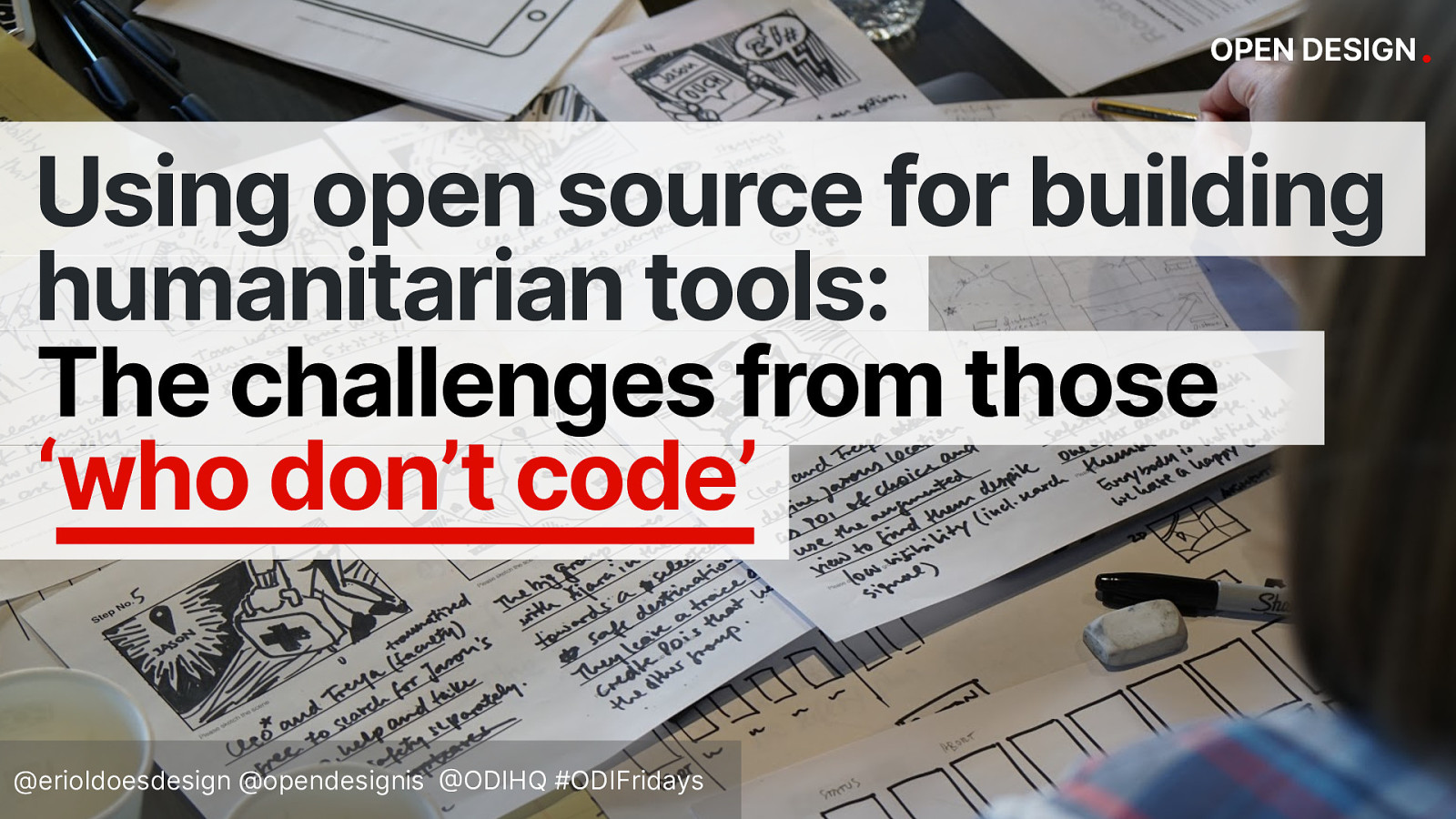 ODI Fridays: The problem with using open source for building humanitarian tools