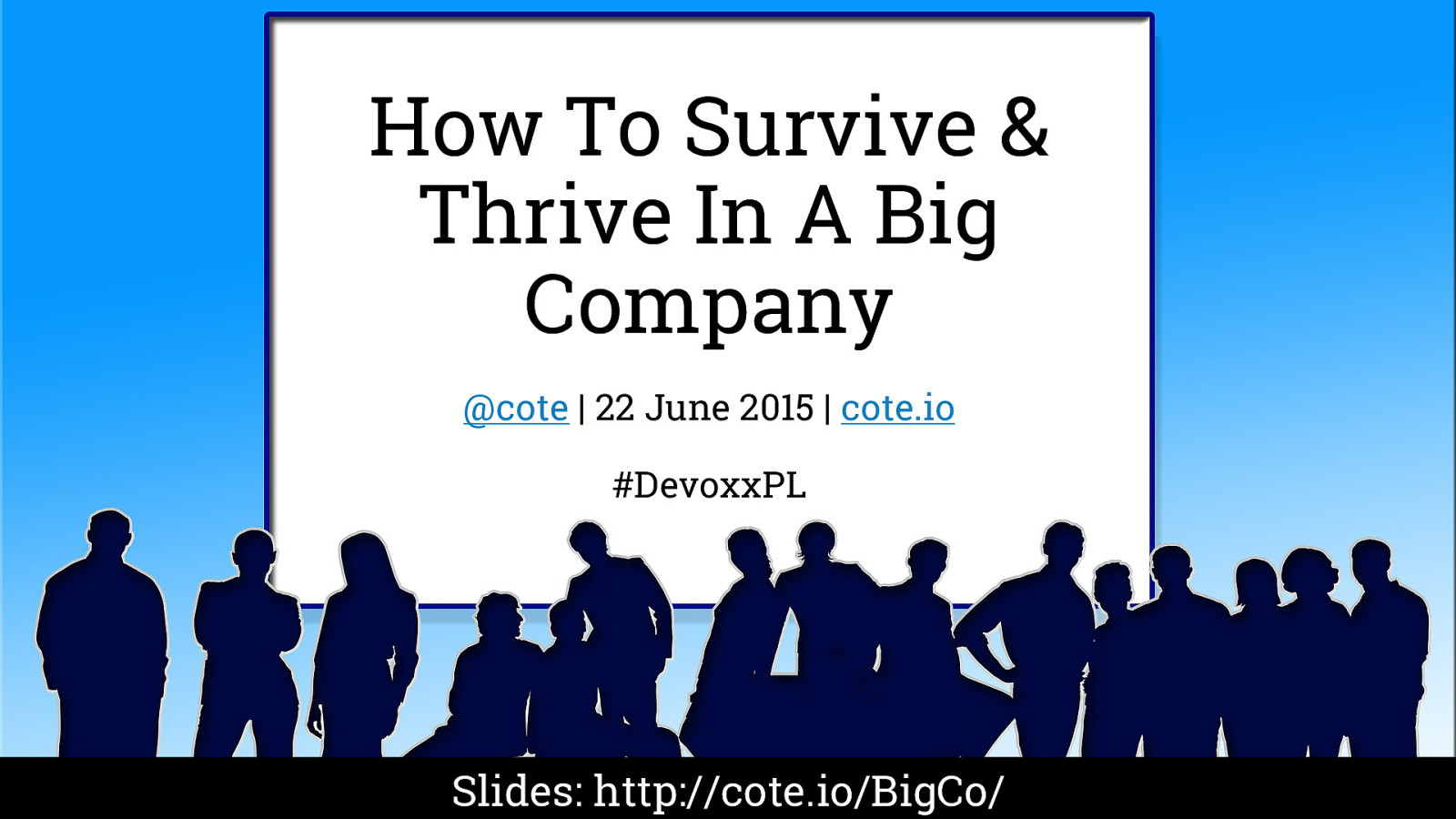 How to survive and thrive in a BigCo