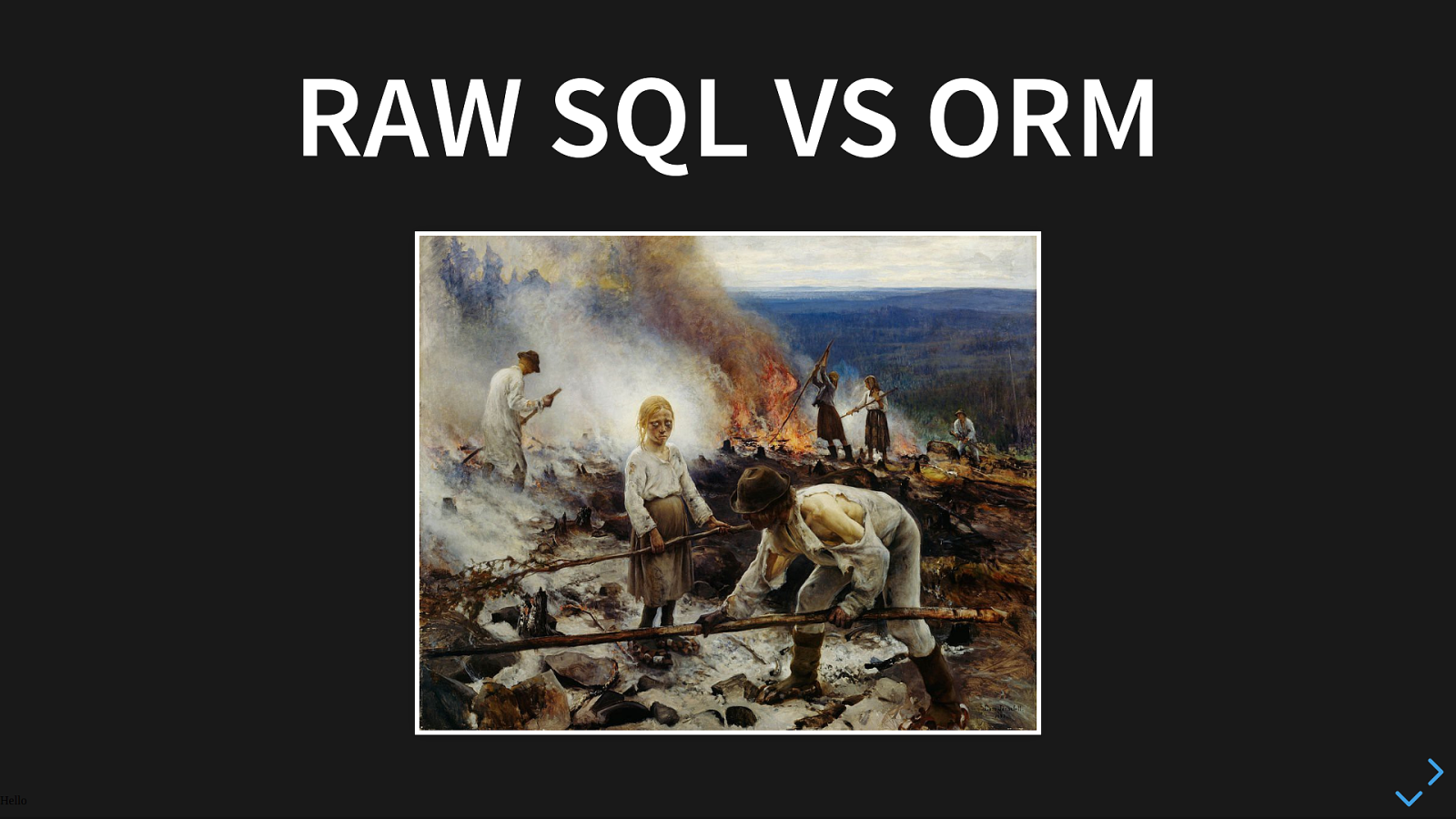 ZeBattle : ORM vs Bare SQL