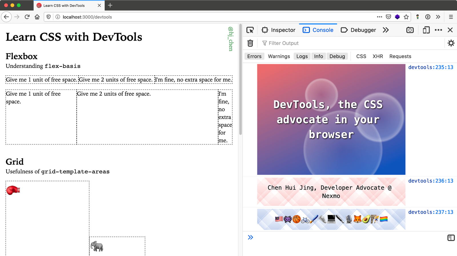 DevTools, the CSS advocate in your browser