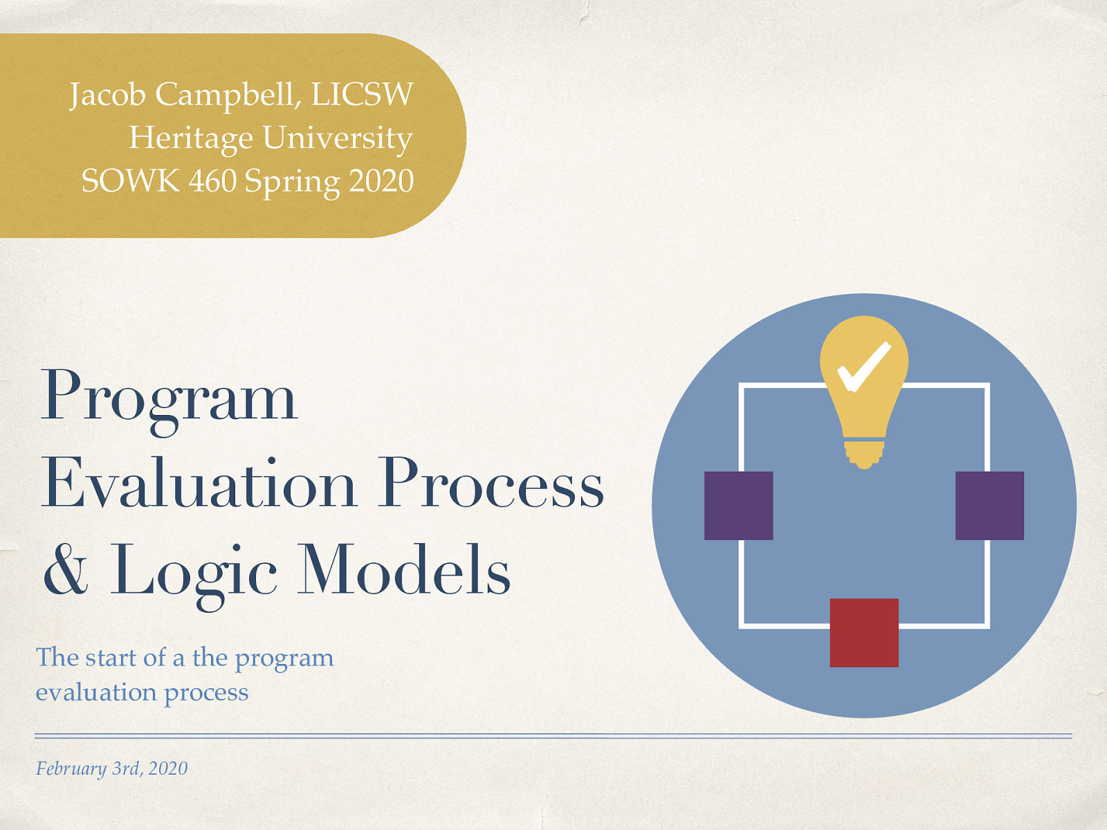 Week 04 - Program Evaluation Process and Logic Models