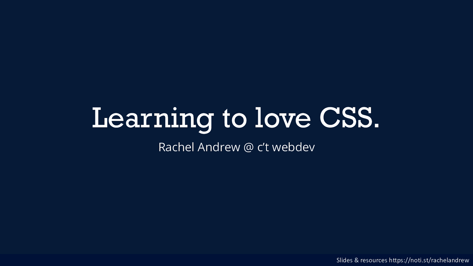 Learning to love CSS