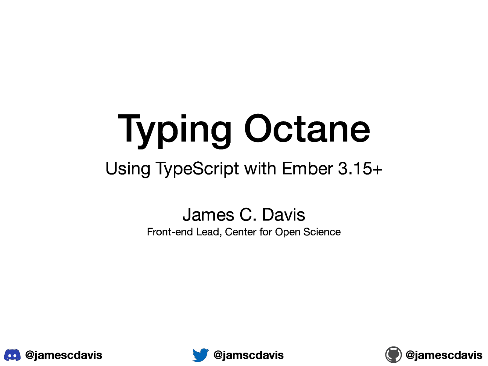 Typing Octane: Using TypeScript with Ember 3.15+