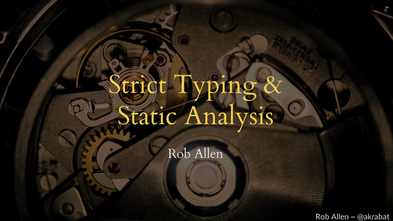 Strict typing and static analysis