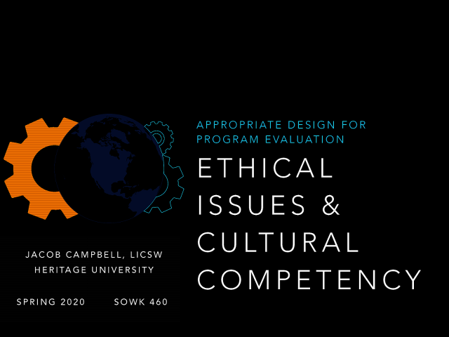 Week 05 - Ethical Issues & Cultural Competency