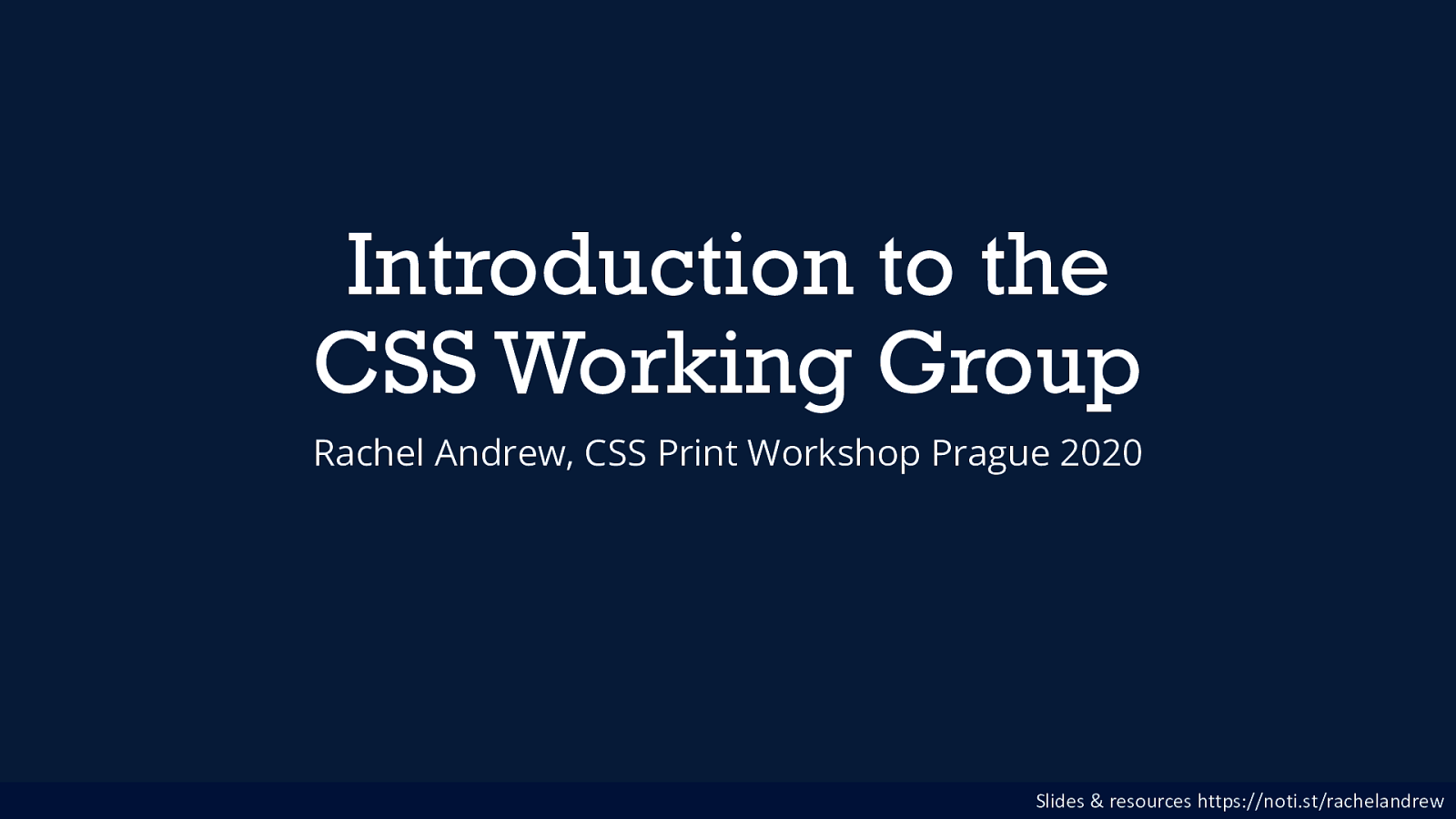 Introduction to the CSS Working Group
