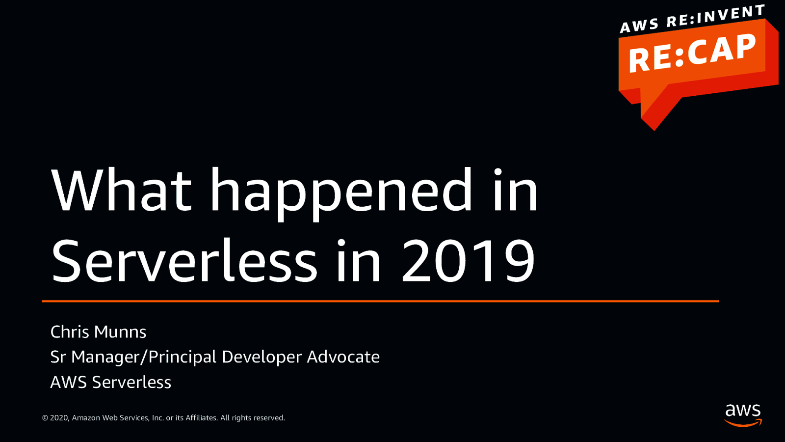 What happened in Serverless in 2019