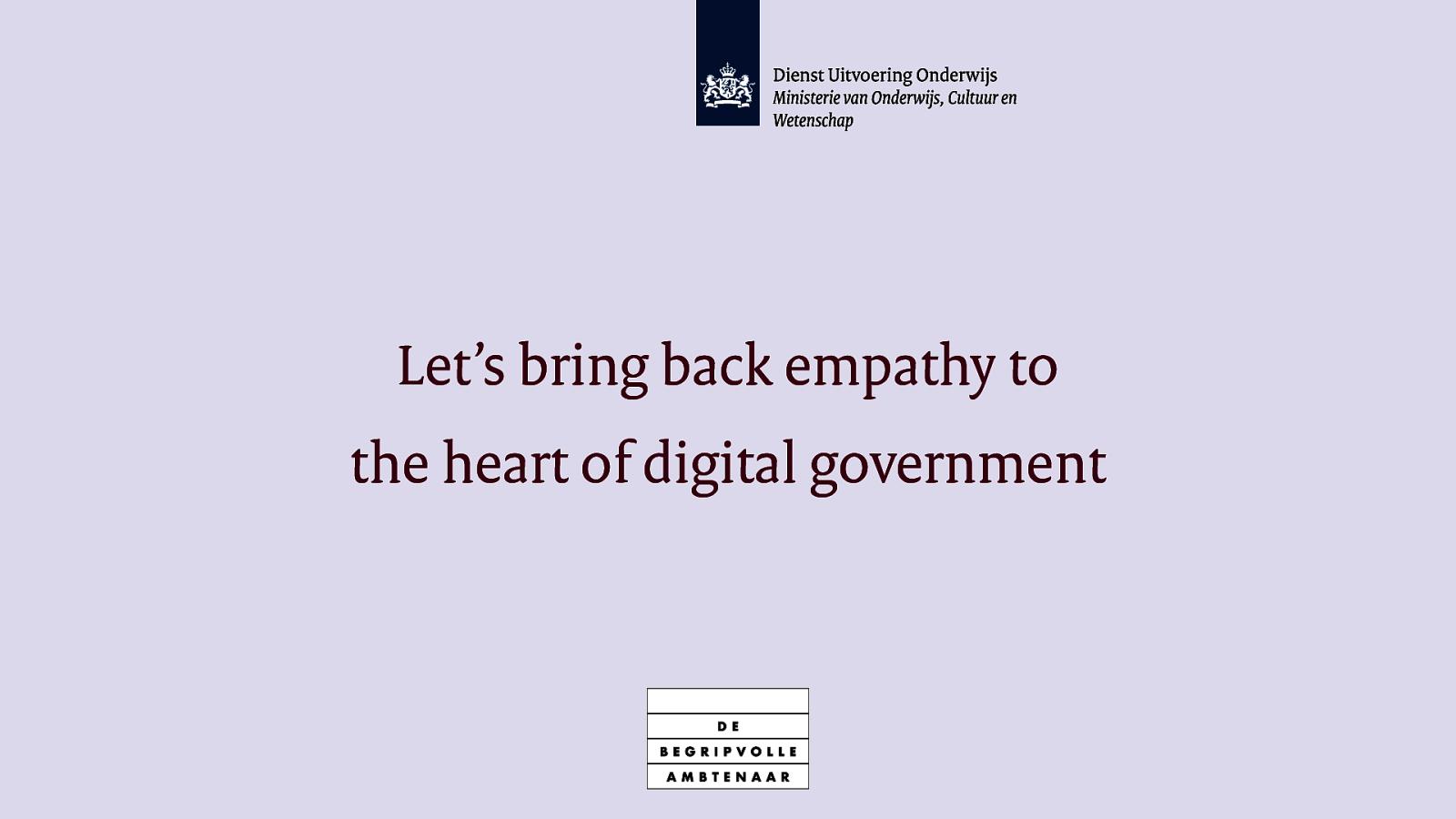 Bring back empathy