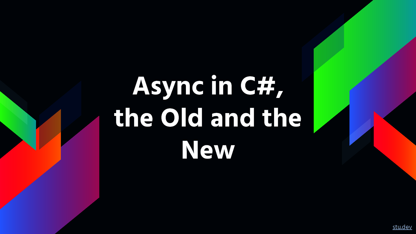 Async in C#, the Old and the New