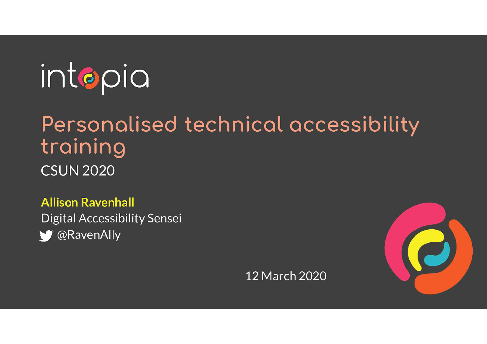 Personalised technical accessibility training: a case study