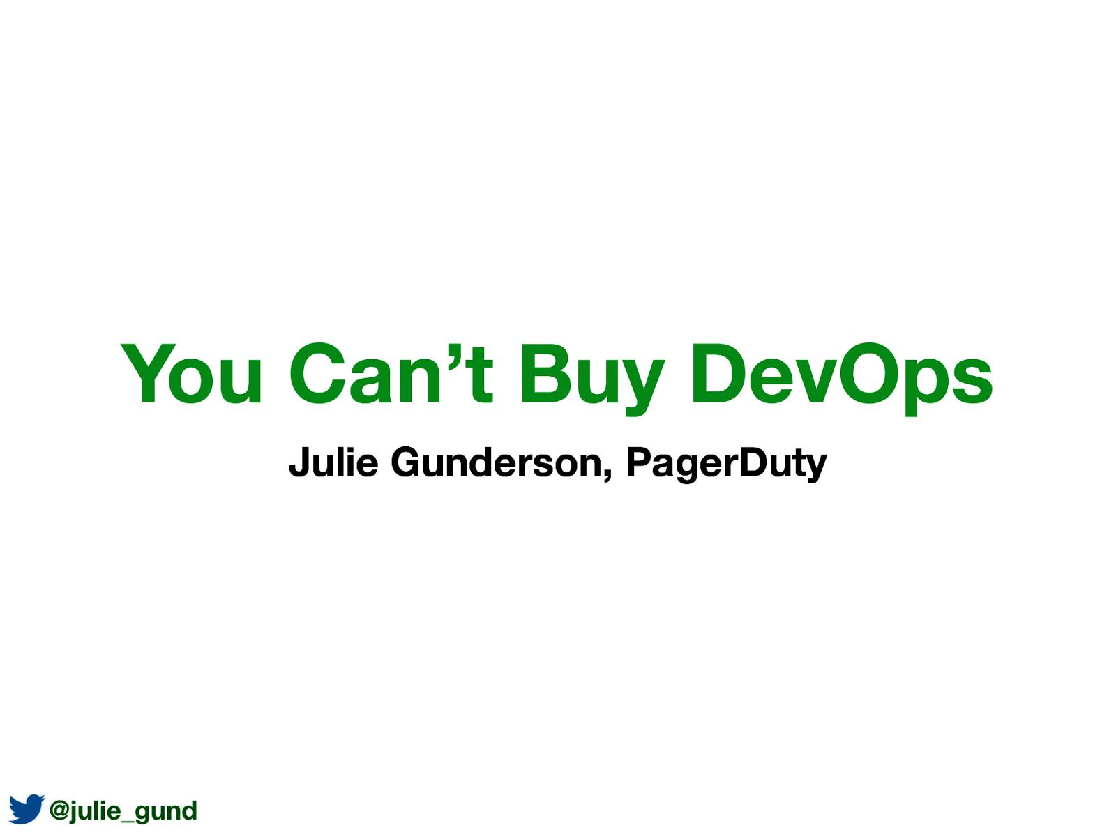 You Can't Buy DevOps