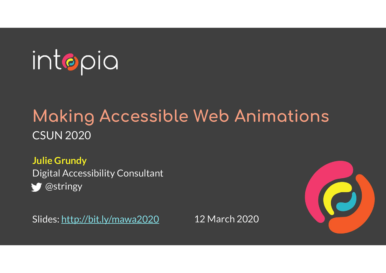 Making Accessible Web Animations