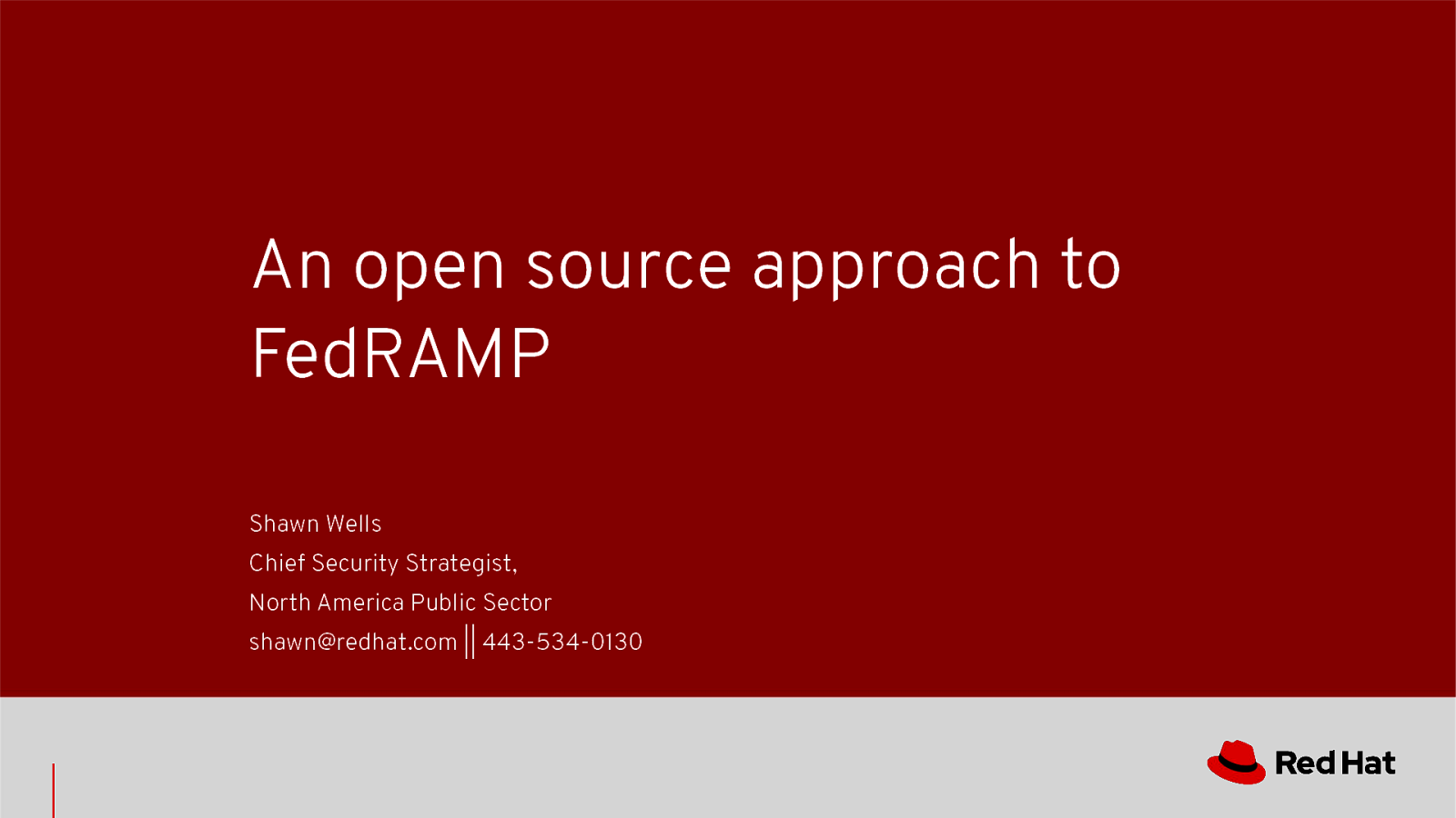 An open source approach to FedRAMP